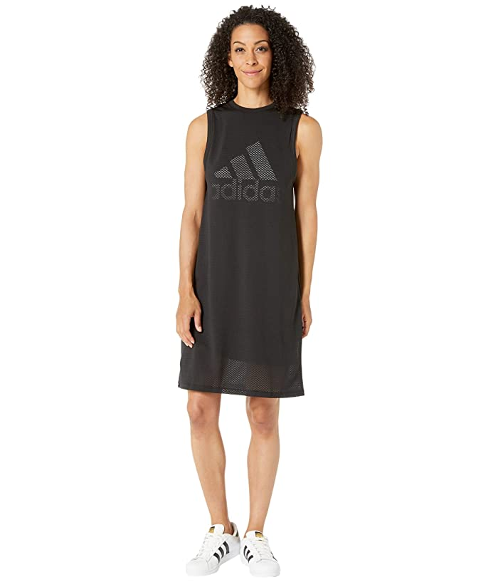 adidas Sport ID Dress (Black/White) Women