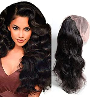 Dai Weier 360 Frontal Lace Closure With Baby Hair Pre Plucked Brazilian Body Wave Hair Extension 130% Density Band Only Natural Color 12 Inch