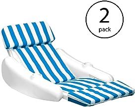 Swimline SunChaser Swimming Pool Padded Floating Luxury Chair Lounger (2 Pack)