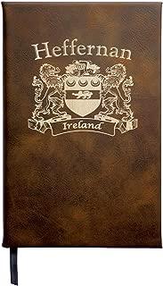 Heffernan Irish Coat of Arms Leather Journal