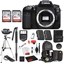 $1176 » Canon EOS 90D Digital SLR Camera Body Only (3616C002) Professional Package Deal Bundle �SanDisk 32GB SD Card (2CT) + Extra Battery for LPE6 + 72� Tripod + More