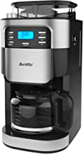 Barsetto Coffee Maker with Grinder,Grind and Brew Automatic Coffee Machine 10 Cup with..