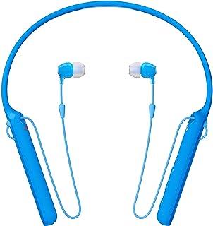 Sony WI-C400 Wireless Behind-Neck In-Ear Headphone, Blue