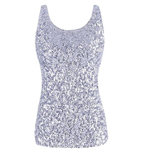 368def98945 kayamiya Women's 1920S Style Glitter Sequined Vest Tank Tops