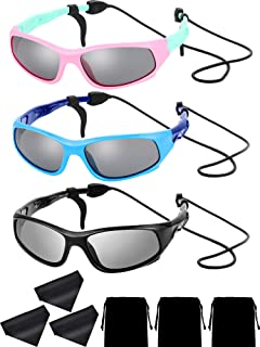 Yaomiao 3 Sets Kids Polarized Sunglasses Children Sports...