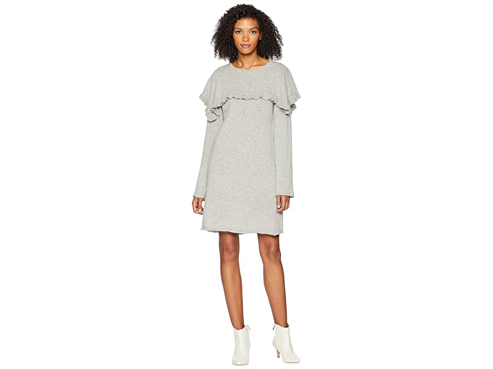 a0f32bc9423 See by Chloe Sweater Dress with Cape (Drizzle Grey) Women s Dress