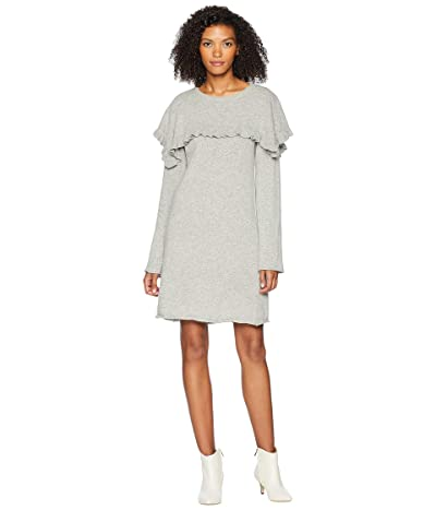 See by Chloe Sweater Dress with Cape (Drizzle Grey) Women
