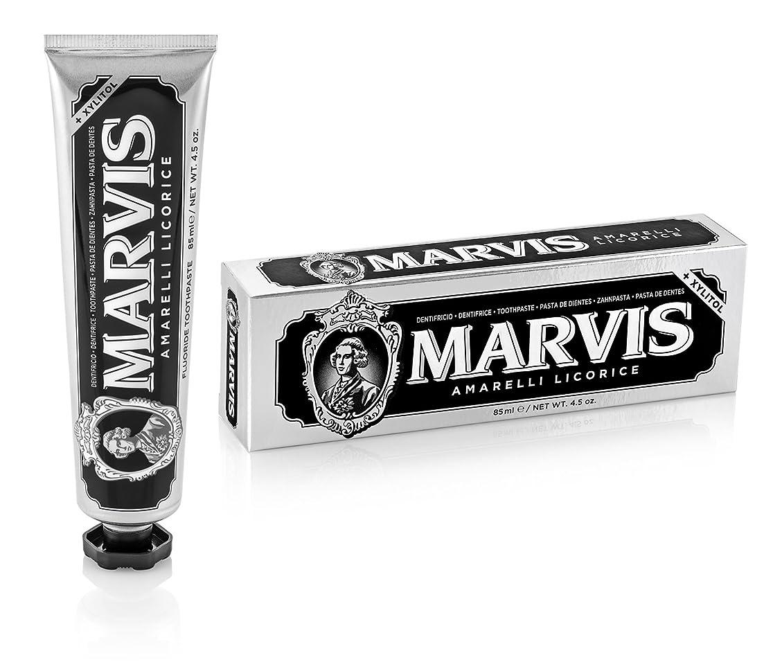 担保隙間光沢のあるマーヴィス Amarelli Licorice Toothpaste With Xylitol 85ml/4.5oz並行輸入品