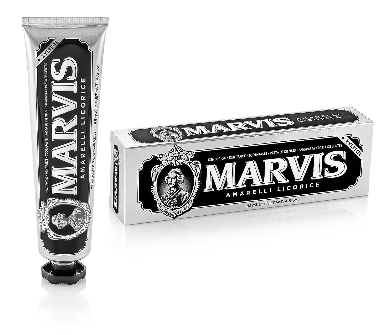 同時単調な大通りマーヴィス Amarelli Licorice Toothpaste With Xylitol 85ml/4.5oz並行輸入品