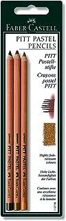 Faber-castell Pitt Pastel Pencils Set Of 3 (raw Umber, Brown Ochre And Van