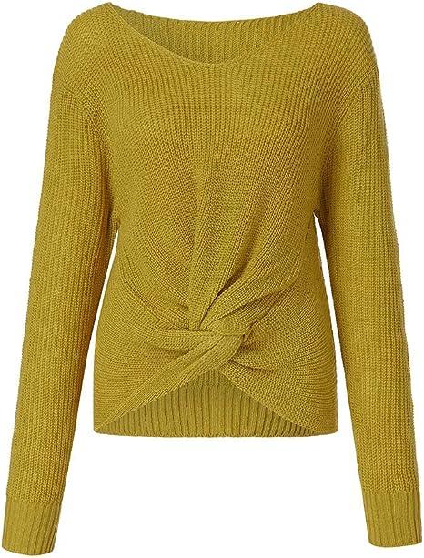 ZODOF suéter de la Raya Tallas Grandes Elástico Suelto ...