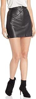 BB Dakota Women's Keep Livin' Vegan Leather Mini Skirt