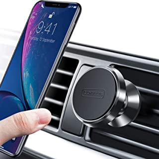 TORRAS Magnetic Car Mount, 360° Rotation Air Vent Cell Phone Holder Car Cradle Mount Compatible for iPhone 11 Pro Max/Xs/Xs Max/XR/X / 8/7 Plus, Galaxy Note 10 / S10+ / S9+ and More - Black