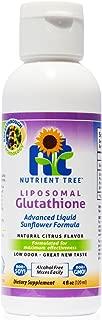 Nutrient Tree Liquid Liposomal Glutathione | Reduced Glutathione Setria® 500mg | Optimized Cellular Absorption | Fight Oxidative Stress, Detox Liver | Low Smell, Soy Free, Non-GMO, Citrus Flavor