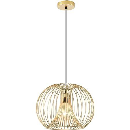 Lustre suspension design filaire dorée Ø 37 x 150 cm métal doré