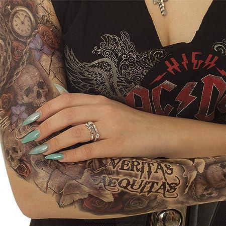 Tattoo arm frau uhr