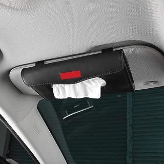 Yijueled Tissue Holder Car Tissue Box Cover Sun Visor Tissue Paper Holder Car Facial Tissue Box Napkin Holder Kleenex Box Case Holder Car Tissue Dispenser for Car Home Office
