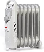 NETTA 800W Oil Filled Electric Heater Radiator with Thermostat – 7 Fin