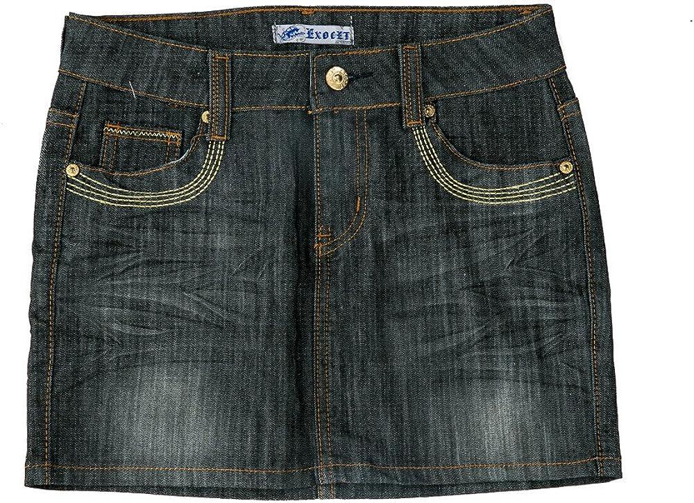 Exocet Women's Crinkle Front Denim Skirt