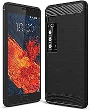 ZENGMING Phone Case Protective Case for Meizu Pro7 Case Carbon Fiber Texture Shockproof TPU Case Anti-Shock Shatter-Resist...