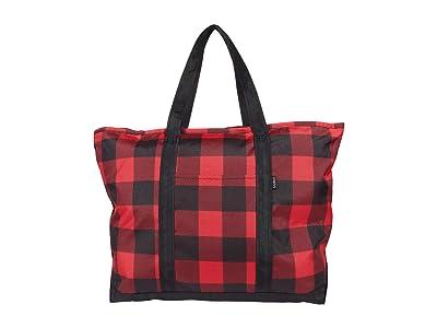 L.L.Bean Everyday Lightweight Large Plaid Tote (Buffalo Check) Handbags