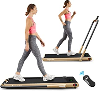 Goplus 2 in 1 Folding Treadmill, 2.25HP Under Desk Electric Treadmill, Installation-Free, with Remote Control, Bluetooth S...