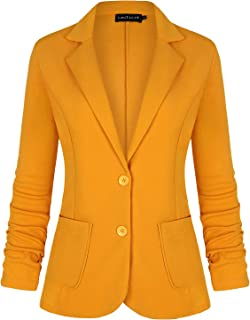 HTOOHTOOH Mens Warm Hooded Cotton Puffer Jacket Winter Thicken Outwear Coat Yellow XL