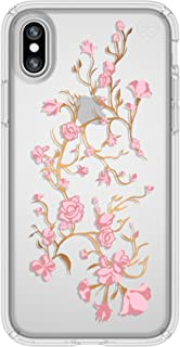 Speck Apple iPhone X Presidio Golden blossoms Print Back Cover - Pink and Clear