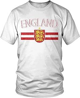 Amdesco Men's England Flag Colors and Lion Crest T-Shirt
