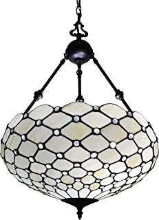 Amora Lighting Tiffany Style Hanging Lamp Jeweled Chandelier 18