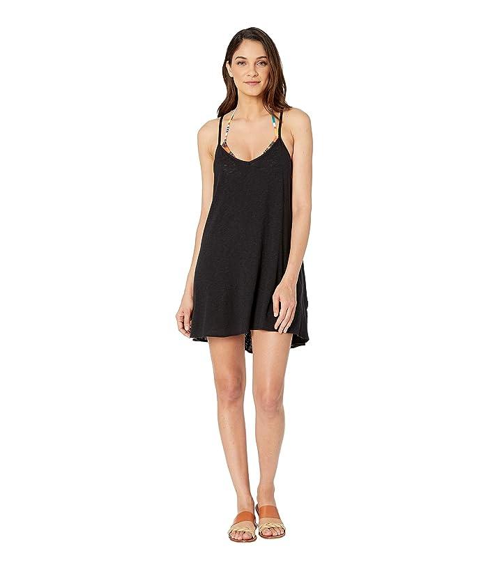 Vitamin A Swimwear Paloma Knit Mini Dress Cover-Up (Ecocotton Black) Women