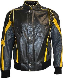 coolhides Mens Motorcycle Leather Jacket XS-5XL Black