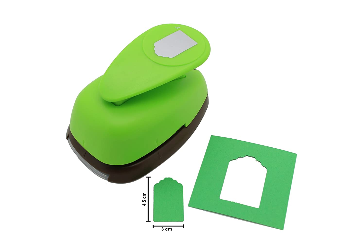 Bira 2 inch Price Tag Lever Action Craft Punch for Paper Crafting Scrapbooking Cards Arts