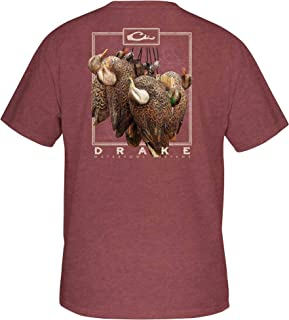 Drake Hanging Decoy Short Sleeve T-Shirt - Maroon Heather