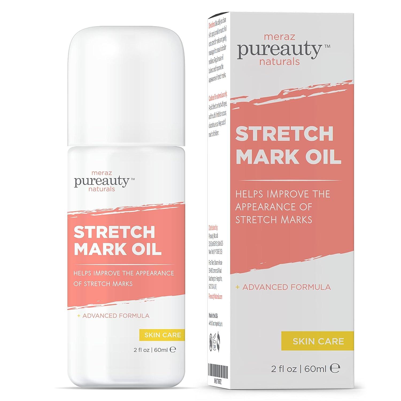 Stretch Mark Oil For Pregnant Women, Stretch Marks During Maternity, And Postpartum Skincare, Body Skin Moisturizing Pregnancy Stretch Mark Cream For Minimizing Strechmarks- Pureauty Naturals, 2 Oz