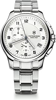 Victorinox Officers Silver Dial Stainless Steel Mens Watch 241554XG (Renewed)