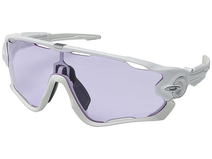 Oakley Jawbreaker (Polished White w/ Prizm Low Light) Sport Sunglasses
