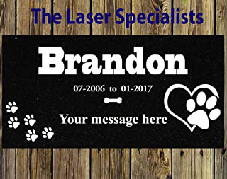 Pet Headstone, dog garden stone, tombstone on the Grave Marker