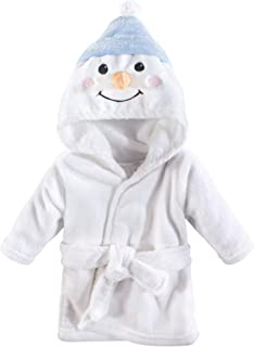 Hudson Baby Soft Plush Baby Bathrobe, Snowman, 0-9 Months