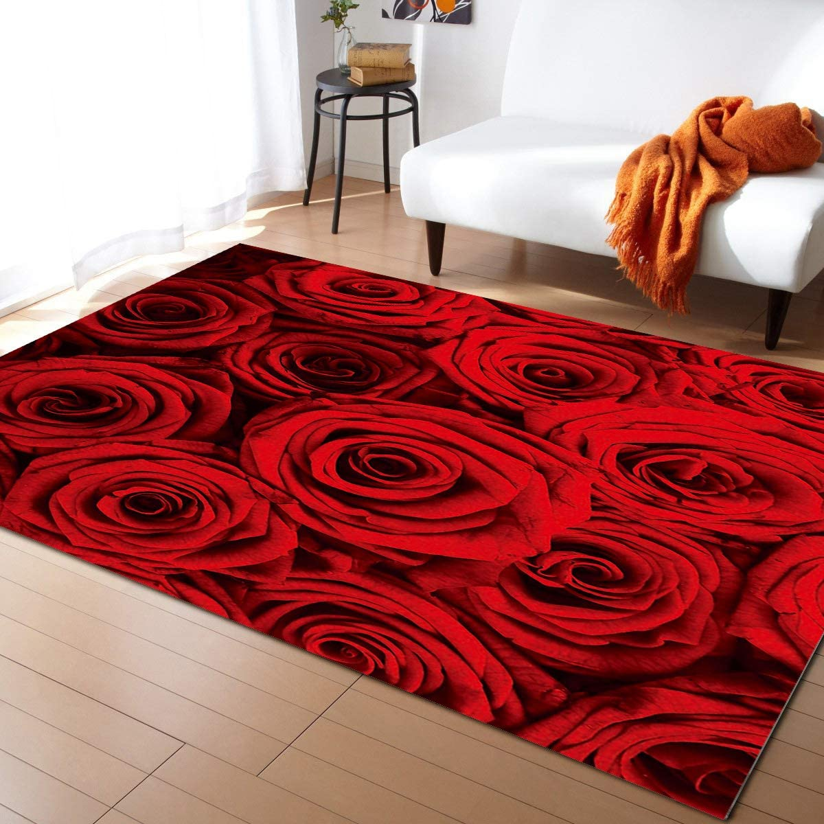 ARTSHOWING Floral Area Rug Decorative Branded goods Livi Carpets We OFFer at cheap prices for Non-Slip