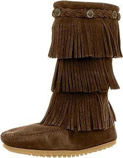 minnetonka fringe boots 2 layer
