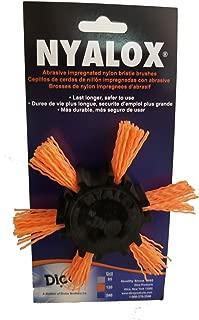 Dico 541-782-4 Nyalox Flap Brush 4-Inch Orange 120 Grit