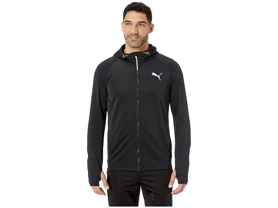 PUMA Tec Sports Full Zip Hoodie (PUMA Black) Men