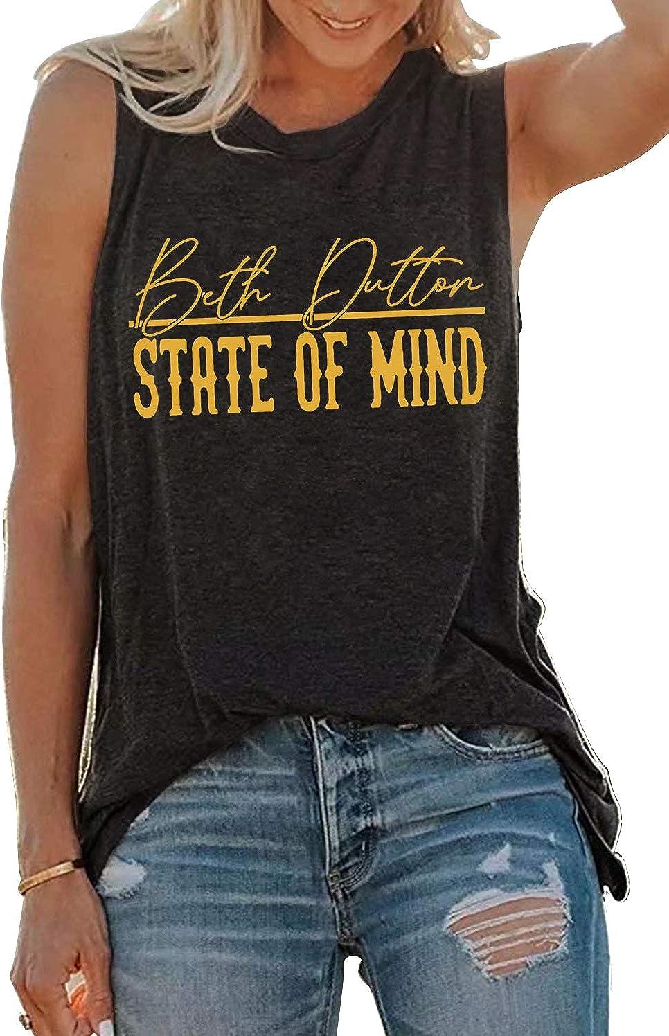 Beth Dutton San Antonio Mall Dedication Tank Tops for Women Vintage Casual Musc Funny Summer