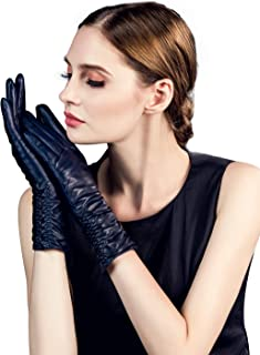 Best faux leather gloves long Reviews