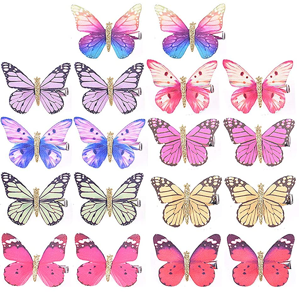 Colorful Butterfly Hair Clips WXJ13 18 Pieces Hair Clips Glitter Barrettes
