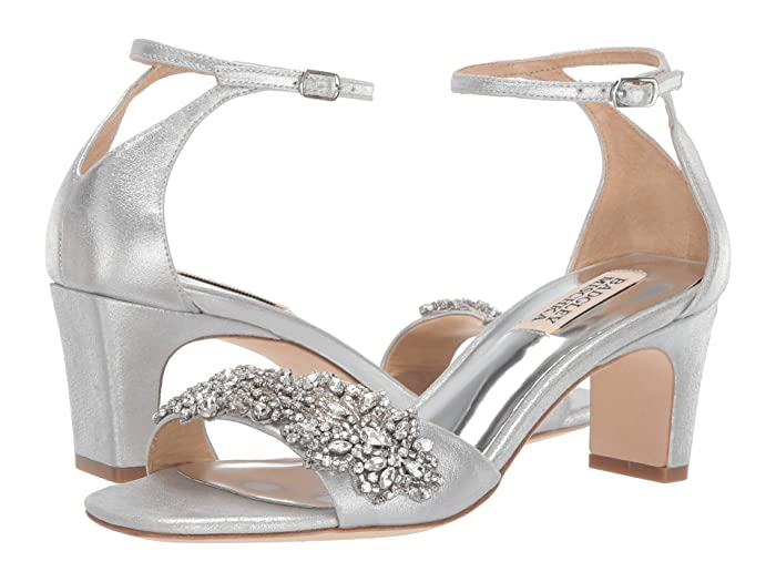Badgley Mischka  Alison (Silver Metallic Suede) High Heels