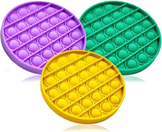 اسباب بازی Hezruy Push Pop Fidget Toy-Silicone Squeeze Sensory EDC اسباب بازی ، استرس و استرس و ضد اضطراب برای کودکان و بزرگسالان ، اوتیسم نیازهای ویژه ضد استرس ، 3 بسته