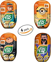 Tic Tac Mints, Despicable Me 3, Banana & Tangerine, 3.4 oz. each (Pack of 4)