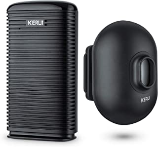 KERUI Long Range Wireless Driveway Alarm Indoor Door Chime Receiver Outside Waterproof Infrared Motion Sensor Detector DIY...